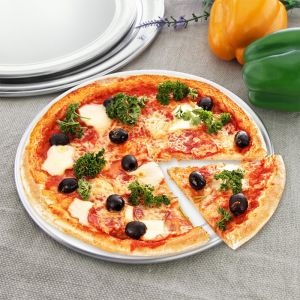 14-inch Round Aluminum Steel Pizza Tray Home Oven Baking Plate Pan