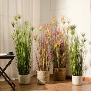 150cm Purple Artificial Indoor Potted Papyrus Plant Tree Fake Simulation Decorative