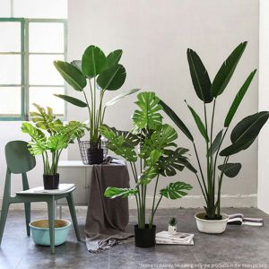 160cm Artificial Green Indoor Traveler Banana Fake Decoration Tree Flower Pot Plant