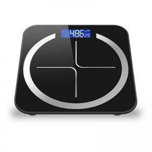 180kg Digital Fitness Weight Bathroom Body Glass LCD Electronic Scales Black