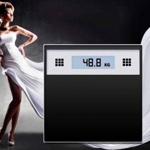 180kg Electronic Talking Scale Weight Fitness Glass Bathroom Scale LCD Display Stainless