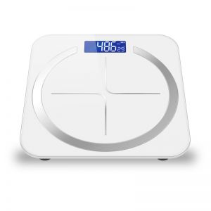180kg Glass LCD Digital Fitness Weight Bathroom Body Electronic Scales White