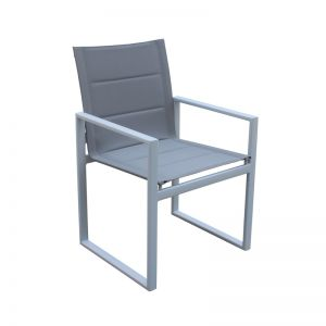 2 Redcliffe Aluminium Outdoor Dining Chairs | White