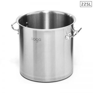 225L Stainless Steel Stockpot without Lid