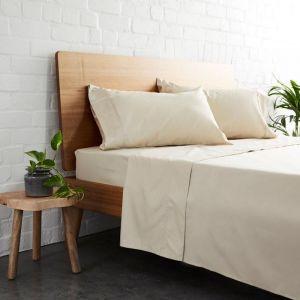 225TC Bamboo Cotton Sheet Set | Natural | Jamie Durie By Ardor