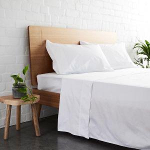 225TC Bamboo Cotton Sheet Set | White | Jamie Durie By Ardor