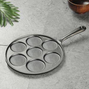 23cm Cast Iron Takoyaki Fry Pan Octopus Balls Maker 7 Hole Cavities Grill Mold
