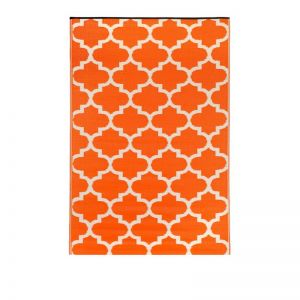 240x300 CM Recycled Plastic Outdoor Rug Waterproof Reversible Tangier Carrot