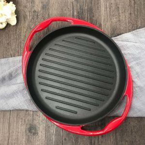 26cm Cast Iron Frying Pan Skillet | Enamel Porcelain | Non-stick Coating