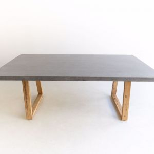 2m | Alta Rectangular Dining Table | Speckled Grey | Timber Legs