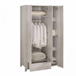 3 Door Wardrobe   White Oak