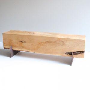 3 Seat Cypress Bench | Mild Steel Legs