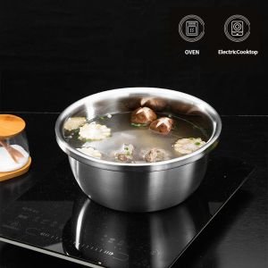 3Pcs | Matte Stainless Steel Stackable Mixing Bowls