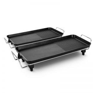 48cm 68cm Electric BBQ Grill Teppanyaki Tough Non-Stick Surface Hot Plate Kitchen Bundle