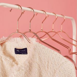 6 Pack Rose Gold Coat Hangers