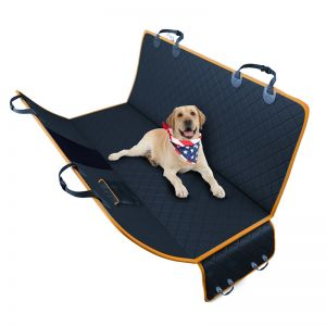 600D Oxford Cloth Waterproof Dog Car Cover Back Seat Protector Hammock Pet Mat Black
