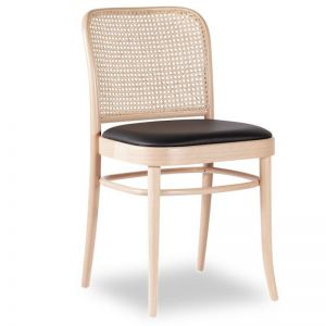 811 Hoffmann Natural Dining Chair | Padded Seat and Cane Backrest