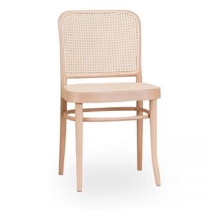 811 Hoffmann Natural Dining Chair with Cane Seat and Cane Backrest