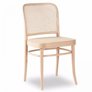 811 Hoffmann Natural Dining Chair with Wooden Seat and Cane Backrest
