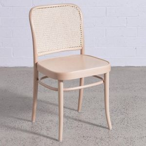 811 Natural Hoffmann Dining Chair with Wooden Seat and Cane Backrest