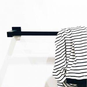 900mm Black Towel Rail