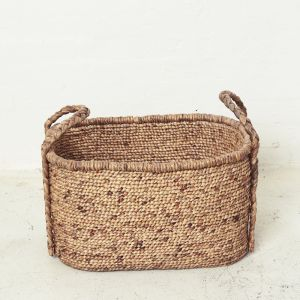 Waterhyacinth Oval Baskets w Plaited Handles l Pre Order