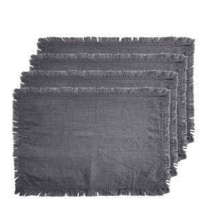 Avani Set of 4 Placemats | 33x48cm | Charcoal