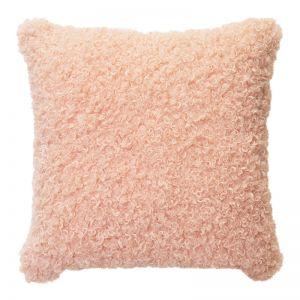 Lyla Faux Sheep Fur Cushion   50x50cm   Peach