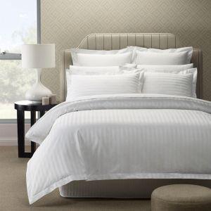 Royal Comfort 1200TC Quilt Cover Sets | Damask Stripe Cotton Blend | King | Various Colours