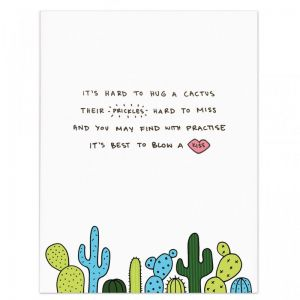 A3 Poem Print by Homely Creatures   Cactus