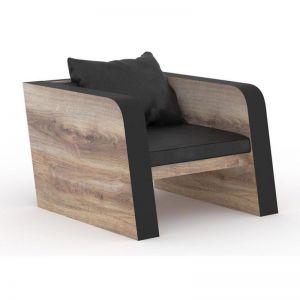 Franco Single Seater Sofa | Mahogany Black