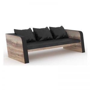 Franco Three Seater Sofa | Mahogany Black