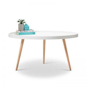 Bolo Round Tray Coffee Table   White