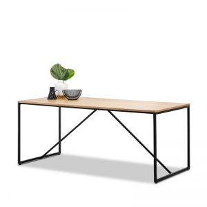 Macy Industrial Oak Dining Table