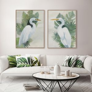 Wandering Egret I | Canvas Print