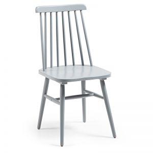 Kristie Timber Chair   Grey