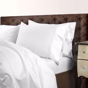 Royal Comfort 1000TC Cotton Blend Quilt Cover Sets   White   Various Sizes