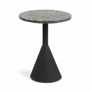 Melano Terrazzo Side Table   Black