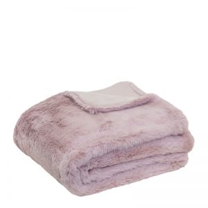 Arlo Faux Fur Throw   130x160cm   Lilac