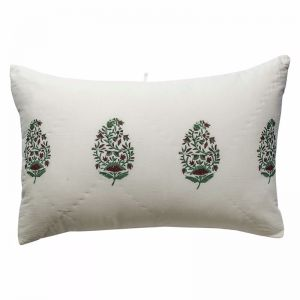 Kaner Quilted Pillowcase   Hand Block Printed