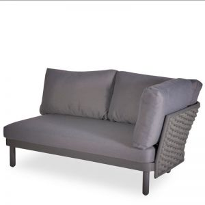 Siano Modular Right Arm 2 Seater   Matt Charcoal with Dark Grey Cushion
