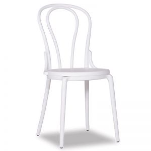 Cannes Outdoor 'Bentwood' Style Chair | Plastic | White