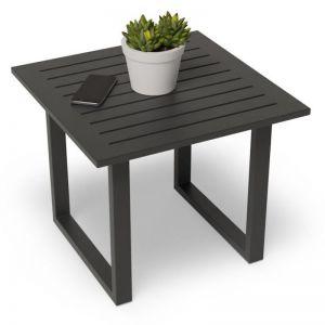 Vivara Outdoor Side Table | Matt Charcoal