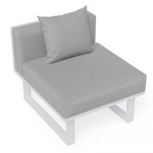 Vivara E Short Modular Sofa Section | Matt White