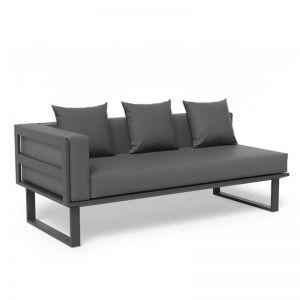 Vivara A Left Arm Modular Sofa Section | Matt Charcoal