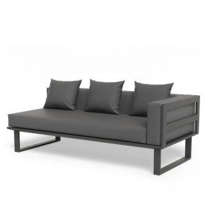 Vivara B Right Arm Modular Sofa Section | Matt Charcoal