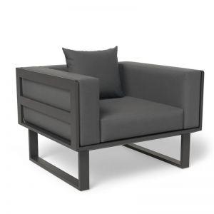 Vivara Outdoor Single Seater Sofa | Matt Charcoal
