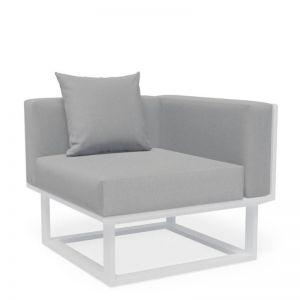 Vivara D Corner Modular Sofa Section | Matt White