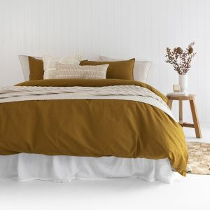 Temple Organic Quilt Cover Set   Tobacco