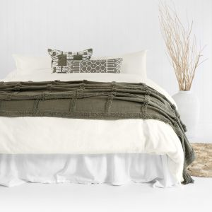 Temple Organic Quilt Cover Set   Ivory